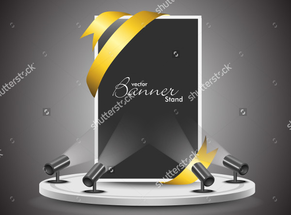 Vector Illustration Banner Stand for Business