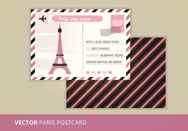 Vector Postcard Template