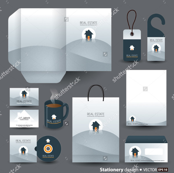 Stationery Designs Set Vector Format