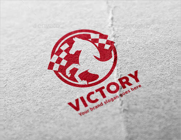 Victory Horse Logo Template