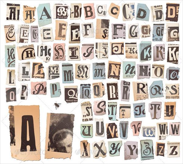 Vintage Alphabetical Upper Case Letter