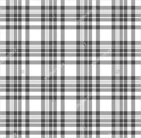 Seamless Tartan Plaid Pattern in Grey and White