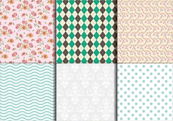 Vintage Floral And Geometric Textures Free