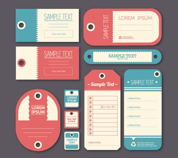 Vintage Label Tags Template Free