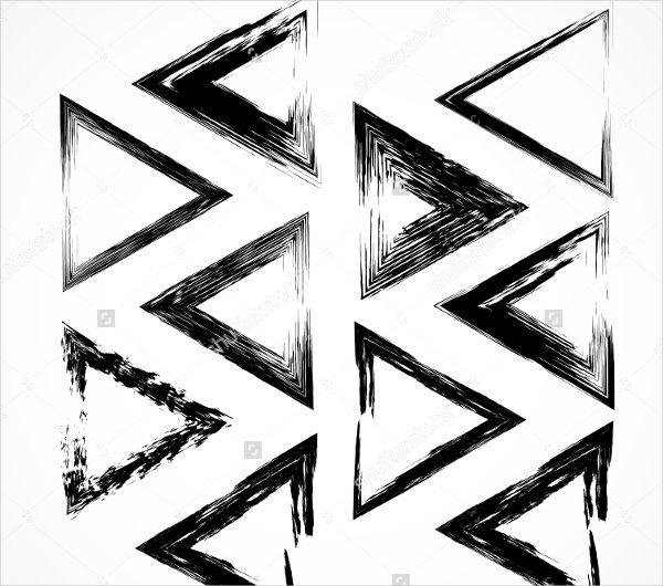 Grunge Triangle Brushes Strokes