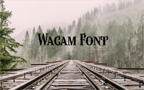 Wacam Font Free
