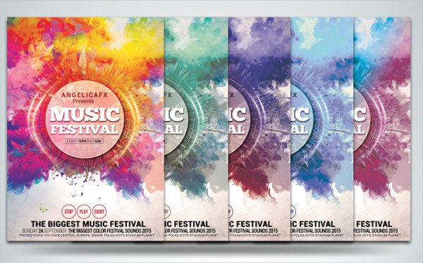 Watercolor Music Flyers