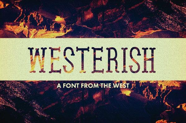 Unique Westerish Font