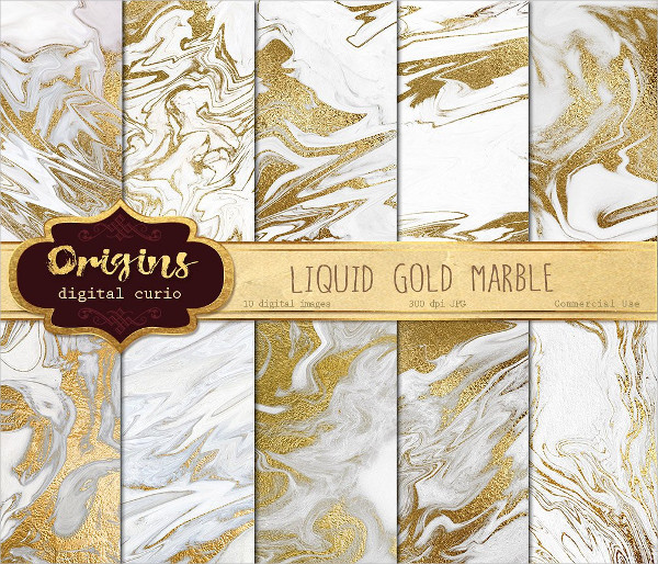 Liquid Gold and White Marble Texture