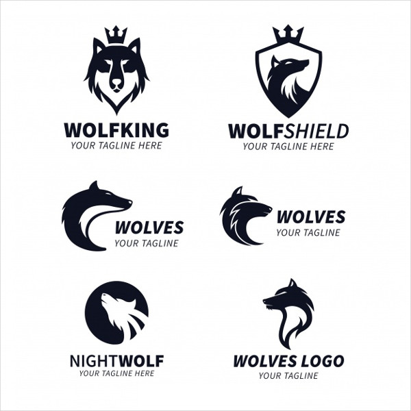 Wolf King Logos Collection Free