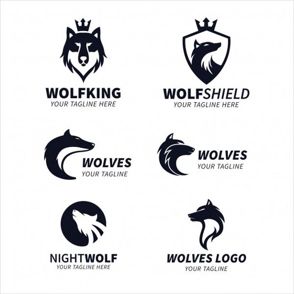 Wolf King Logos Collection Free