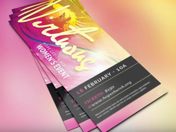 Women's Day Church Flyer Template