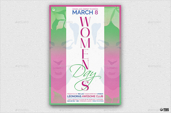 Womens Day Club Flyer Template