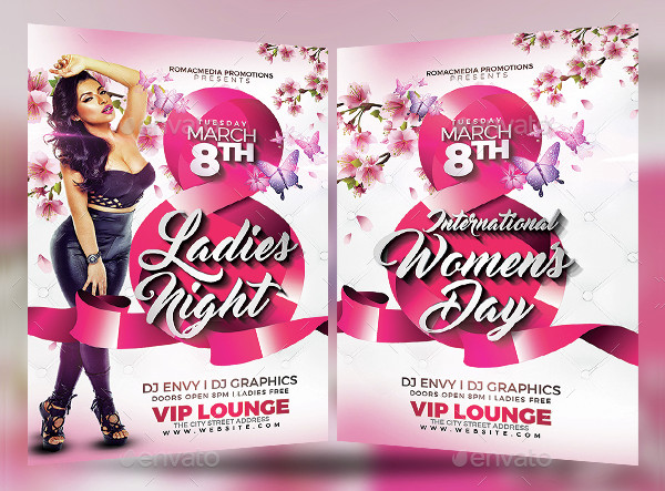Women's Day Ladies Party Flyer Template