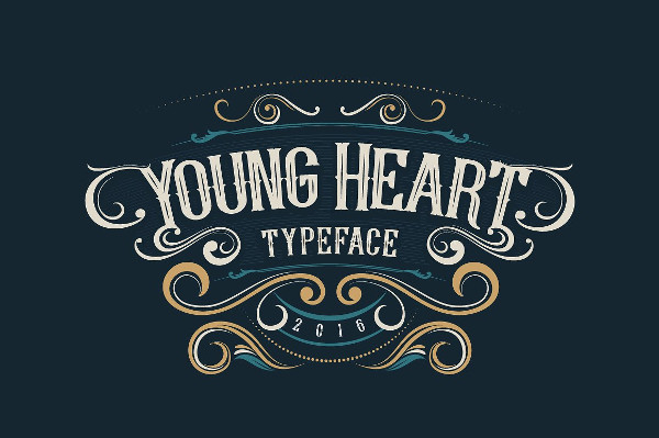 Young Heart Typeface Tattoo Fonts