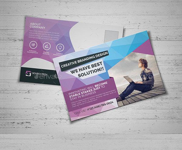Corporate Design Postcard Template