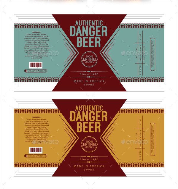 Printable Beer Label Template - 195+ Free & Premium Download