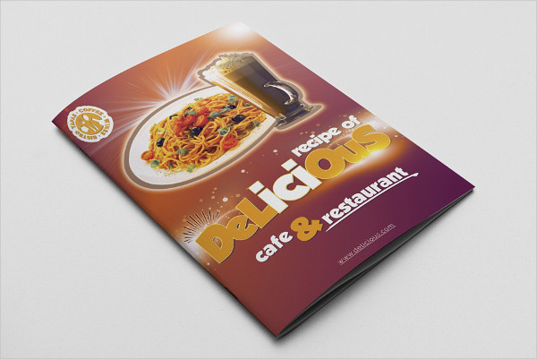Delicious Cafe & Restaurant Menu Templates