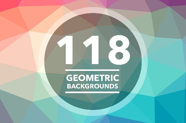 118 Geometric Triangle Polygon Backgrounds