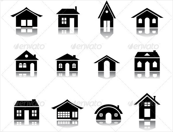 Vector Set of 12 Different Architecture Icons