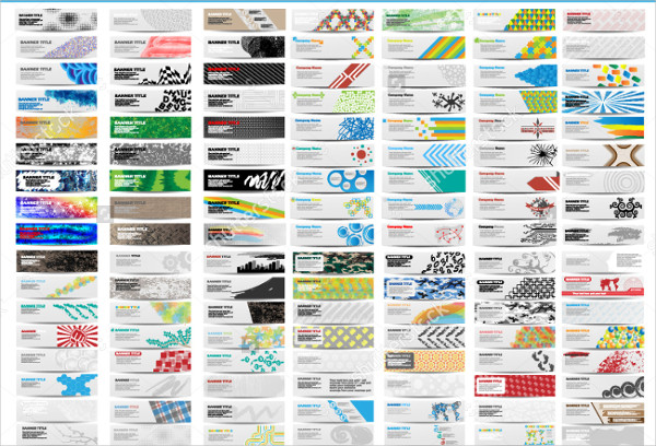 120 Mega Colorful Banners Collection