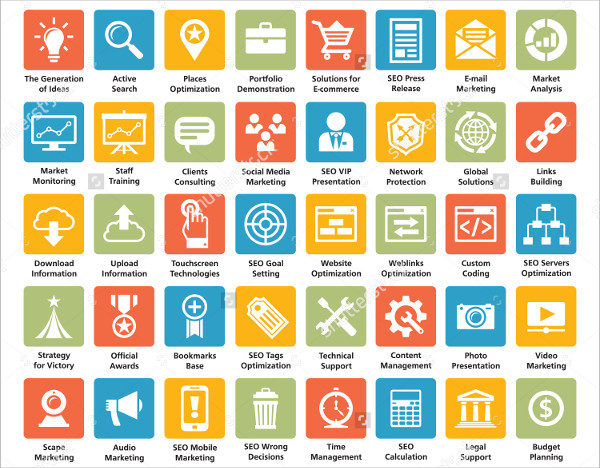 40 SEO Agency Icon Collection