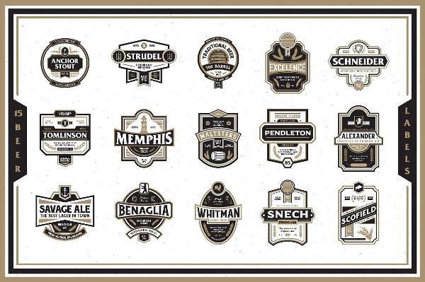 15 Branding Premium Beer Labels