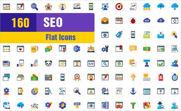 160 Content Management Flat Icons