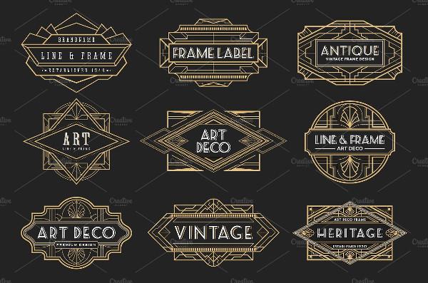 20 Art Deco Badges & Frames
