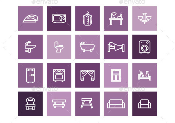 20 Home Vector Icons in Two Styles