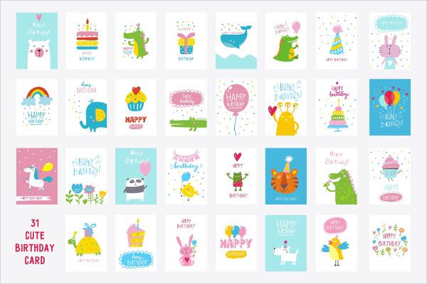 31 Cute Birthday Cards