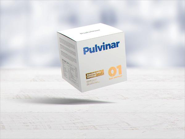3D Square Box Packaging Mockup