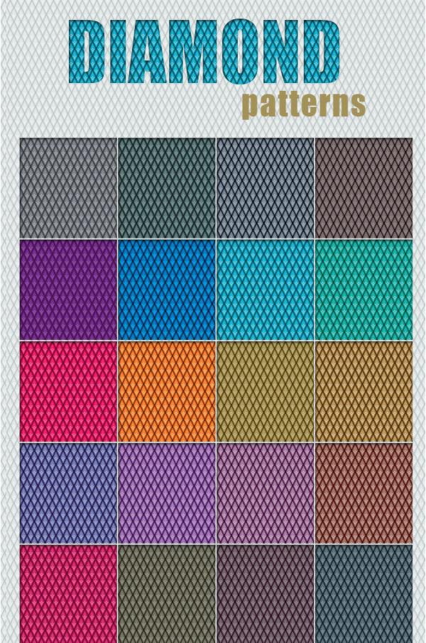 30 Colorful Diamond Patterns
