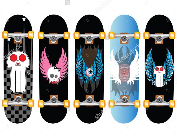 5 Stakeboard Design Set