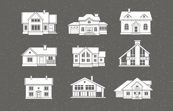 9 Traditional Houses Icons