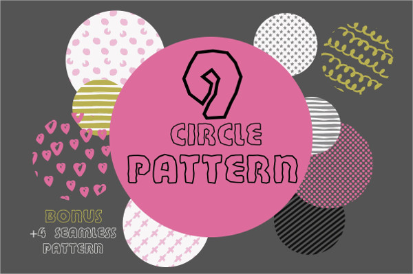 Set of 9 Circle Patterns in Geometric Elements