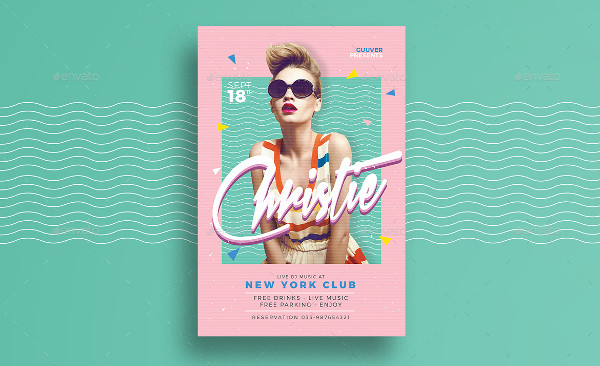 90's DJ Flyer Template
