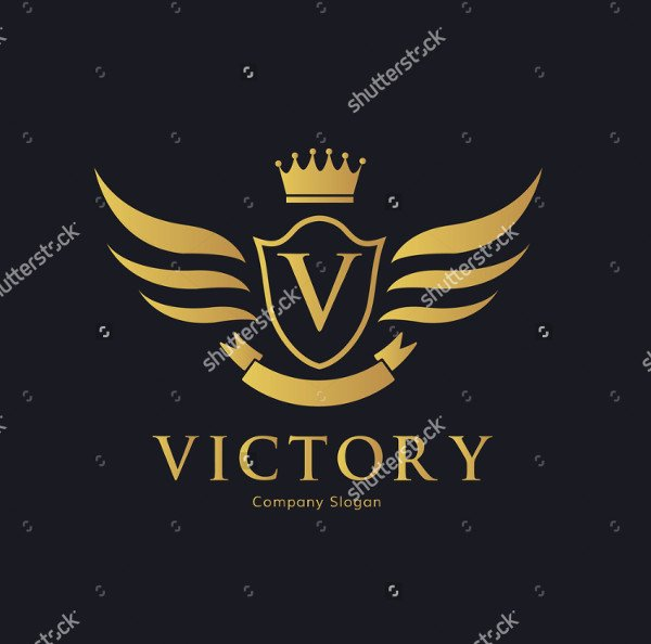 Abstract Victory Logo Template Vector