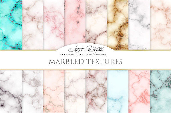 Abstract Marble Paper Textures