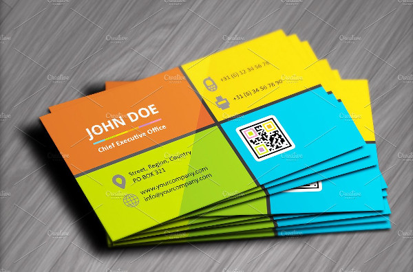 Abstract Metro Style Flat Business Cards