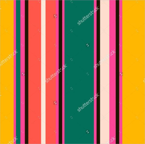 Retro Bright Colorful Seamless Stripes Pattern