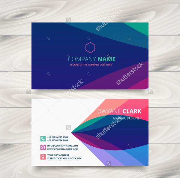 Colorful Purple Stylish Business Cards