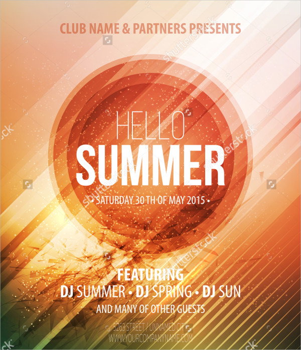 Abstract Summer Poster Template
