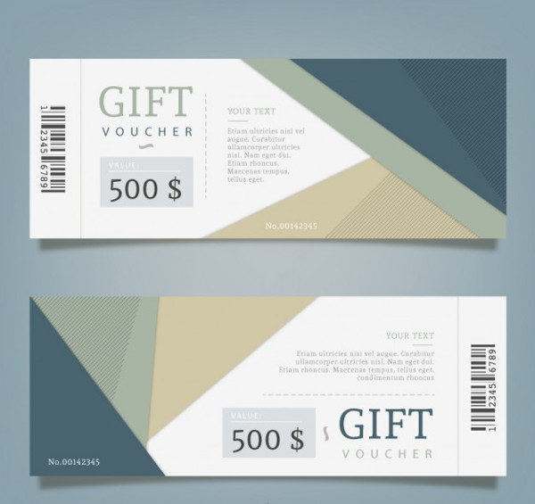 Abstract Gift Coupon Template Free