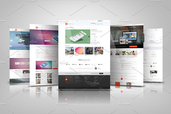 Elegant Design Web Presentation Mock-Ups