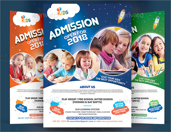 Colorful School Flyer Template