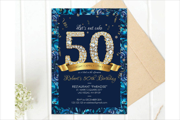 Affordable 50th Birthday Invitations