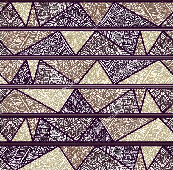 Striped Pattern with Tribal Motifs