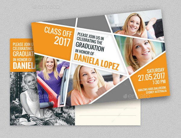 Amazing Graduation Party Post Card Template