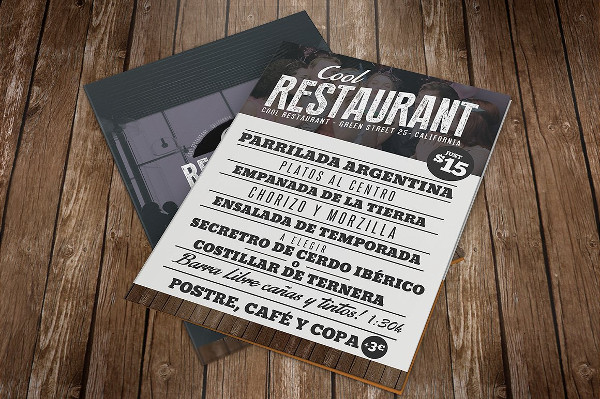 Amazing Restaurant Menu PSD Template